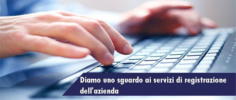 servizi di registrazione dell'azienda